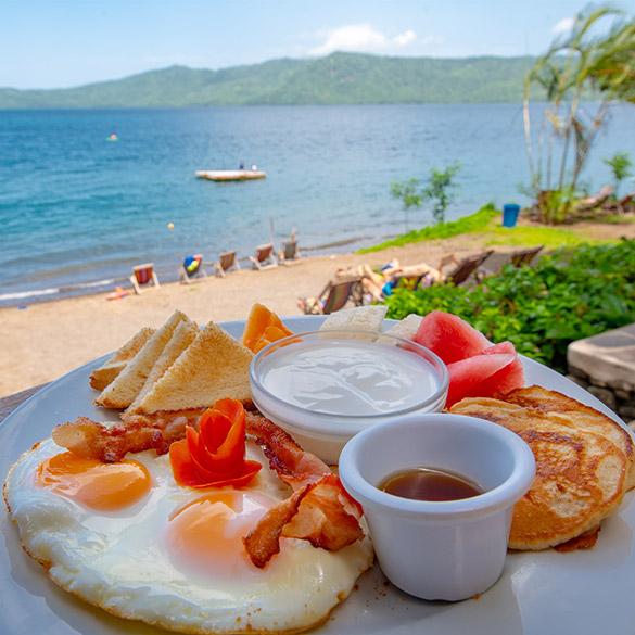 Breakfast Paradiso Nicaragua Laguna de Apoyo Resort Lodge